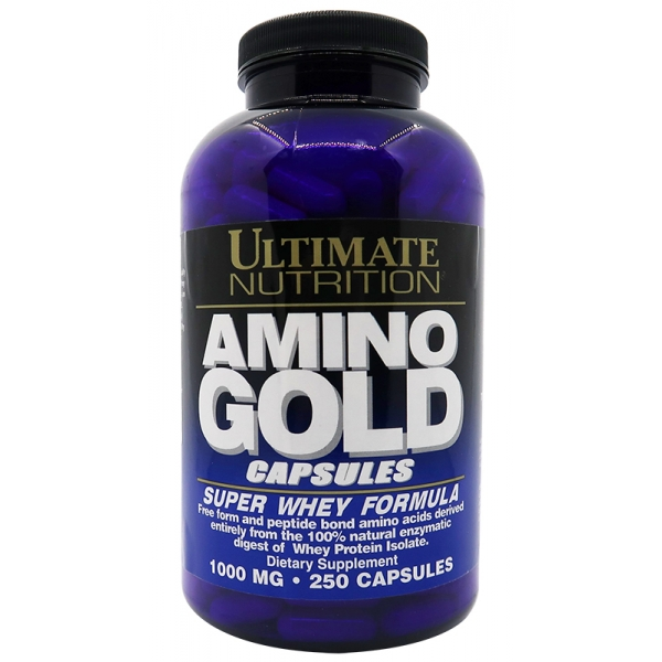 Ultimate Nutrition AMINO GOLD 1000 мг - 250 капс