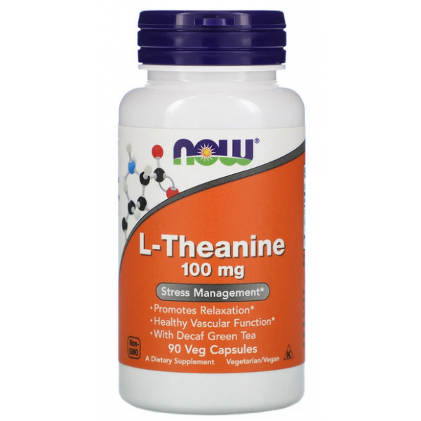 NOW Foods L-Theanine 100 мг - 90 капс