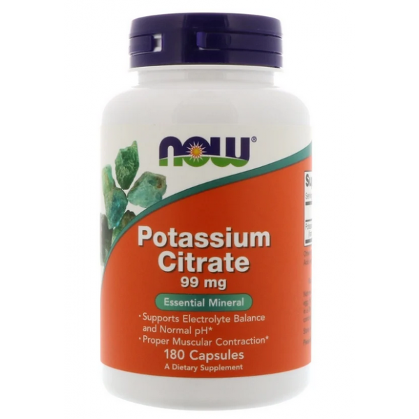 NOW Foods Potassium Citrate 180 капс