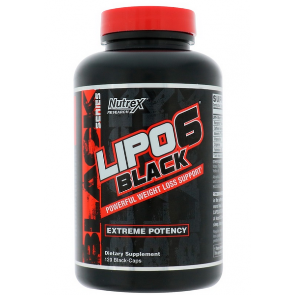 Nutrex Research Lipo 6 Black Powerfull Weight Loss - 120 капс